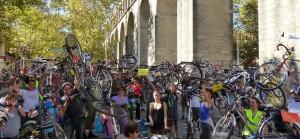 Lever de vélos aux Arceaux