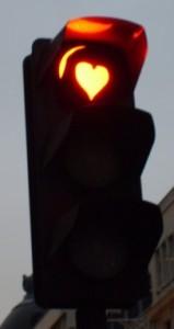 feu rouge coeur