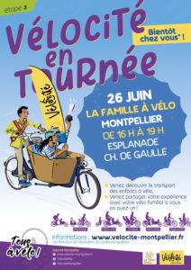 Vélocité en tournée - Montpellier - La famille à vélo